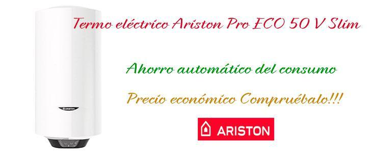 Termo eléctrico Ariston Pro Eco 50 V Slim