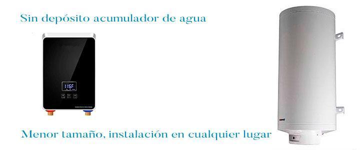 Calentador eléctrico intantáneo o termo