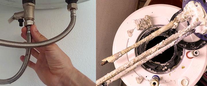 Mantenimiento termo eléctrico descalcificacion, eliminar la cal del calentador eléctrico de agua