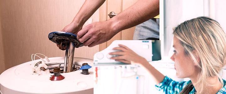 El termo eléctrico pierde agua por abajo o por arriba