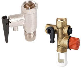 Válvula de seguridad de un calentador eléctrico de agua